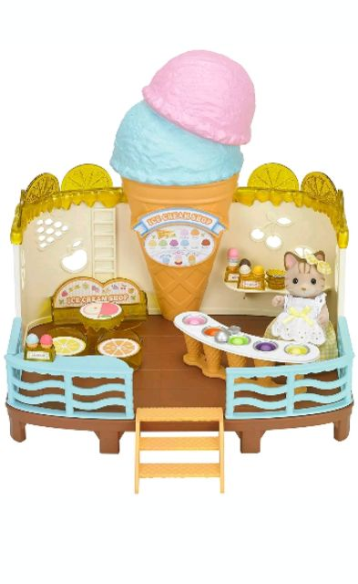 Gia đình sylvanian tiệm kem