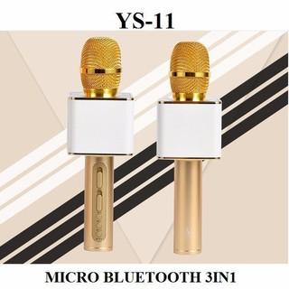 [Mã 2404EL10K giảm 10K đơn 20K] Micro Karaoke Bluetooth YS11 - Loa bluetooth kiêm míc