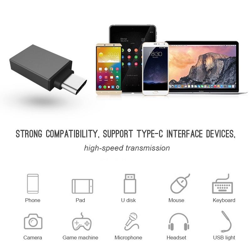 Đầu chuyển đổi USB 3.1 Type C sang USB 3.0 OTG dành cho dây cáp điện thoại / máy tính bảng