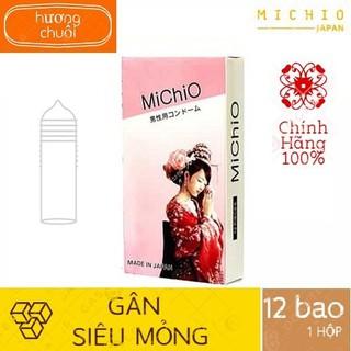 [DEAL SỐC][CHÍNH HÃNG 100%] Bao cao su Michio Nhật Gân và siêu mỏng, hương chuối nhẹ nhàng, Sản phẩm cực đình đám thumbnail