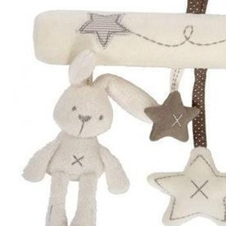 Plush rabbit car hang with music bed hanging bed around the original packaging paper