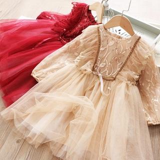 Đầm Tay Dài Cho Bé Gái Từ 3-8 Tuổi