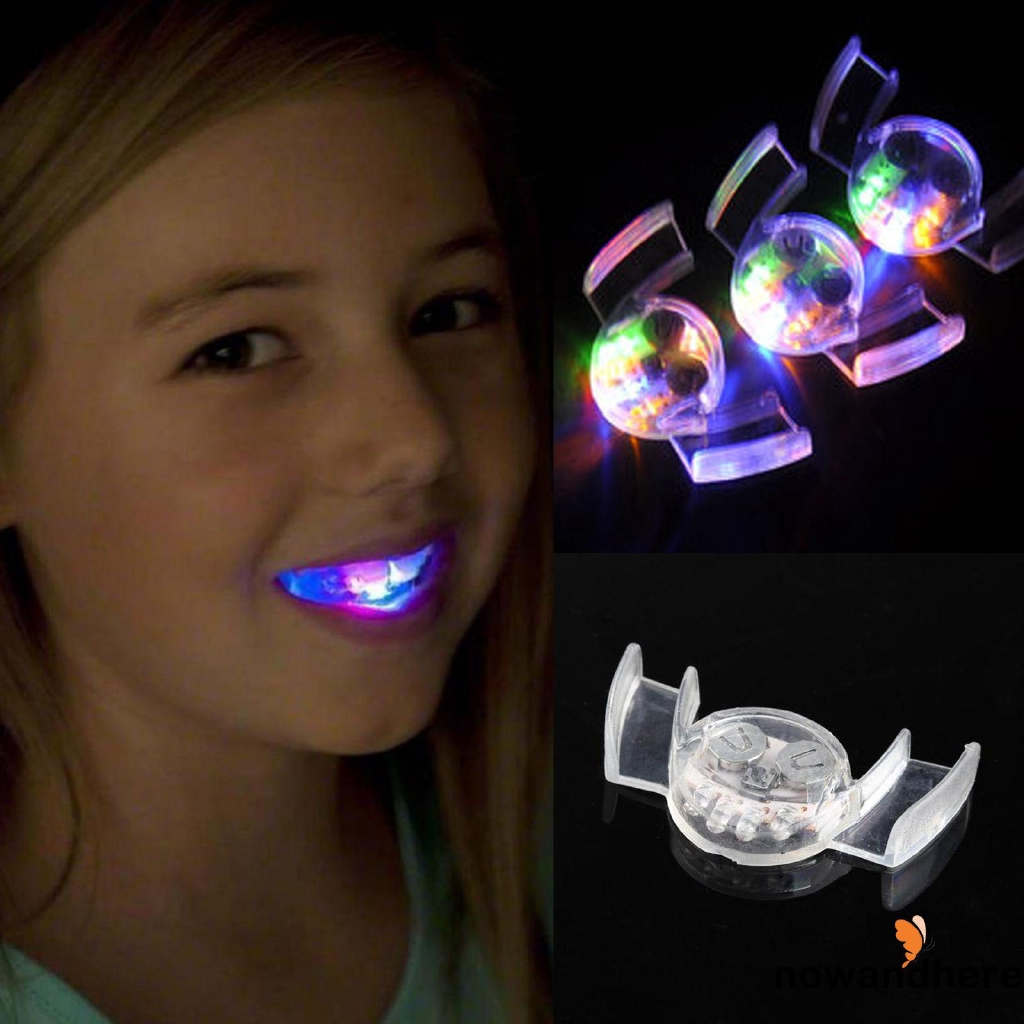NHE-Fashion Glow Teeth Flash Braces LED Light Up Mouth Braces Piece Halloween