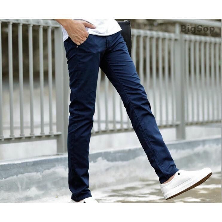 Quần kaki nam Hàn Quốc màu xanh đen