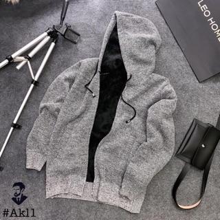 [ Xả hàng ] Áo khoác len nam lót lông