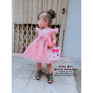 Đầm công chúa phối hoa