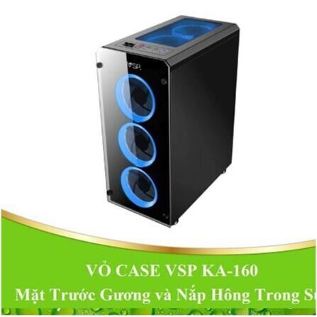 [Giá Phá Đảo] VỎ CASE máy tính VSP KA-160 mặt trước gương và nắp hông trong suốt.