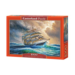 Xếp hình puzzle Sailing Against All Odds 1000 mảnh Castorland
