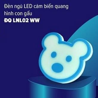 Đèn ngủ LED Điện Quang ĐQ LNL02 WW (cảm biến quang, hình con gấu, ánh sáng vàng)