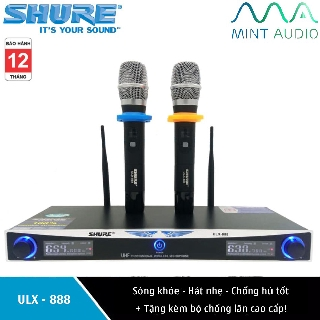 Bộ Micro karaoke không dây Shure ULX-888 + Tặng kèm 02 chống lăn bảo vệ micro cao cấp