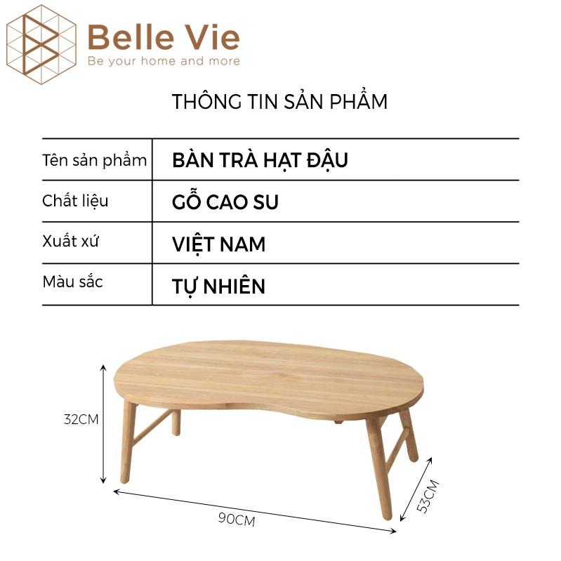 Bàn Trà Gỗ Gấp Gọn BELLEVIE Bàn Sofa Gỗ Thông Minh Hình Hạt Đậu Bàn Decor Trang Trí D TABLE