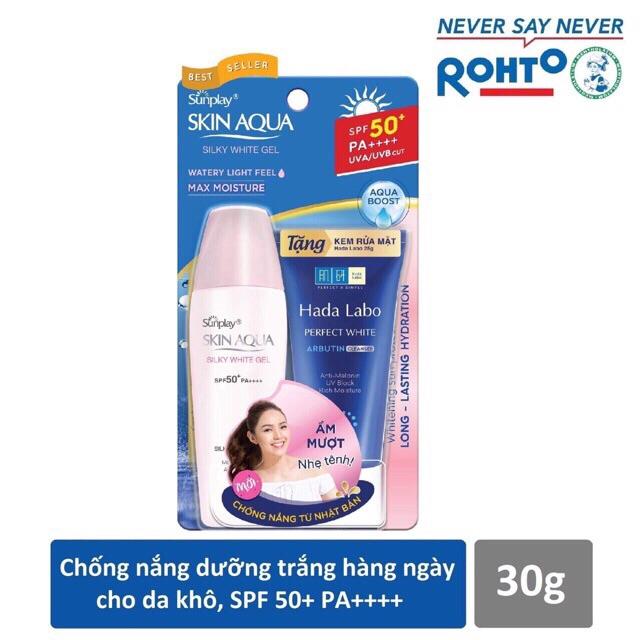Kem Chống Nắng Sunplay Skin Aqua SPF50 (Tuýp 25g) Tăngj Sữa Rửa Mặt Hadalabo 25g - 14034926 , 2106227788 , 322_2106227788 , 115000 , Kem-Chong-Nang-Sunplay-Skin-Aqua-SPF50-Tuyp-25g-Tangj-Sua-Rua-Mat-Hadalabo-25g-322_2106227788 , shopee.vn , Kem Chống Nắng Sunplay Skin Aqua SPF50 (Tuýp 25g) Tăngj Sữa Rửa Mặt Hadalabo 25g