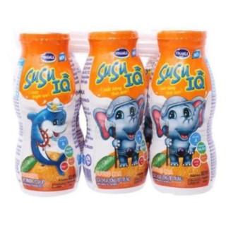 Sữa chua uống Susu IQ (6 hộp * 80ml)_ Hương cam –