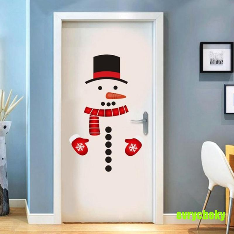 EVRY Removable Christmas Snowman Wall Stickers Art Vinyl Decal Window Fridge Sticker