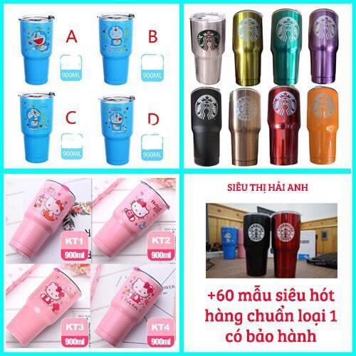 Ly Giữ Nhiệt 900ml Thái Lan kèm túi 2 ống hút và cọ rửa GDPHONG22
