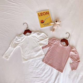 Áo len cho bé gái ⚡️HÀNG CAO CẤP⚡️ Áo len bé gái tay bo, màu trắng/hồng TE2719 TE2729