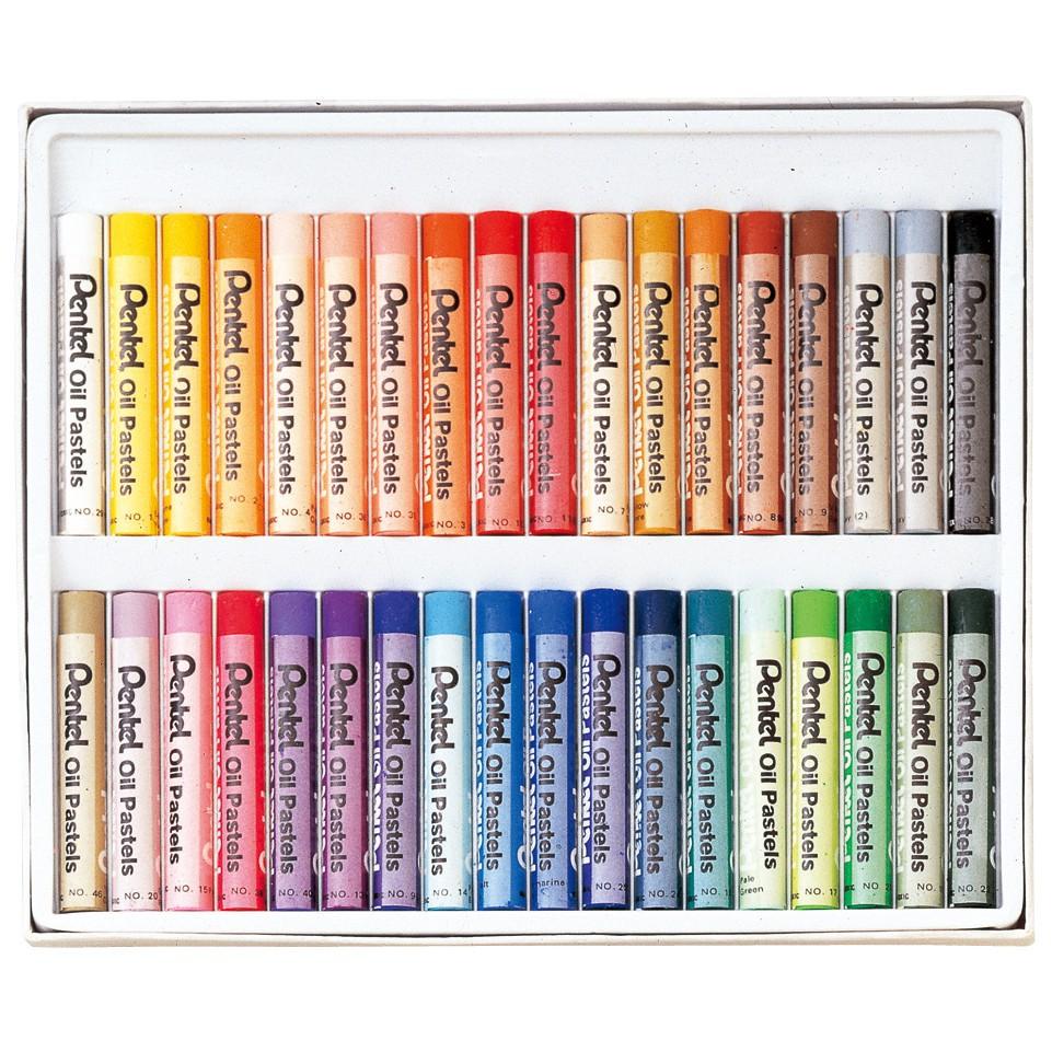 Bộ màu sáp dầu PENTEL 16/36/50 màu - PENTEL Arts Oil Pastels Set 12/16/36/50 colors