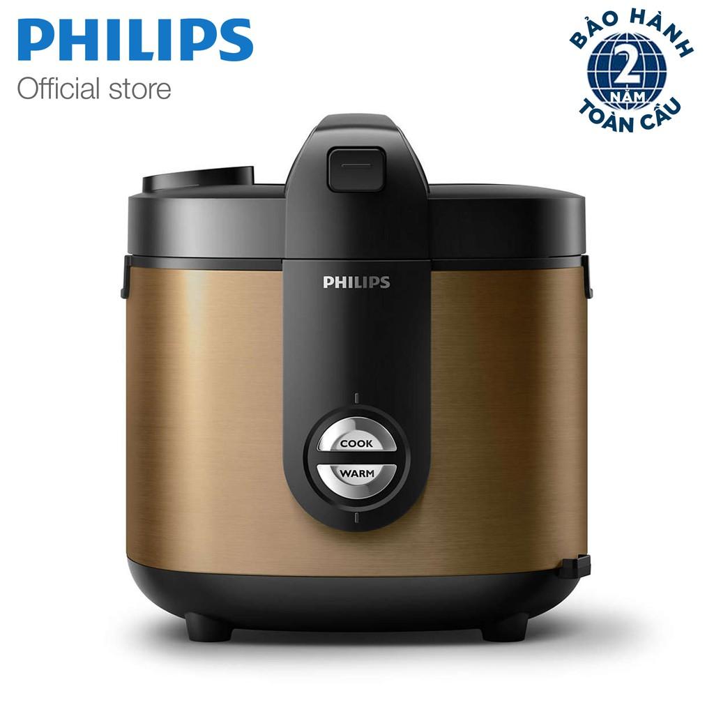 Nồi cơm điện nắp gài Philips HD3132/68 (Vàng Đồng)