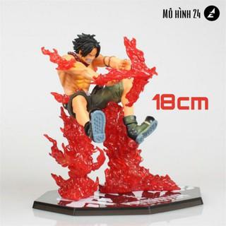 [RẺ VÔ ĐỊCH] Mô hình cao cấp Ace Hỏa quyền battle ver chữ thập fig one piece anh trai luffy