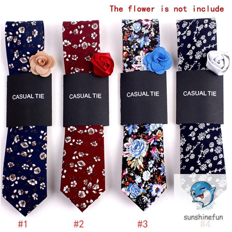 Cà vạt in hoa thời trang cho nam