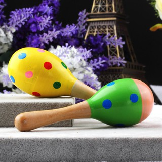 HOT❤Kids Baby Wooden Toy Maracas Rumba Shakers Musical Party Rattles Hot,