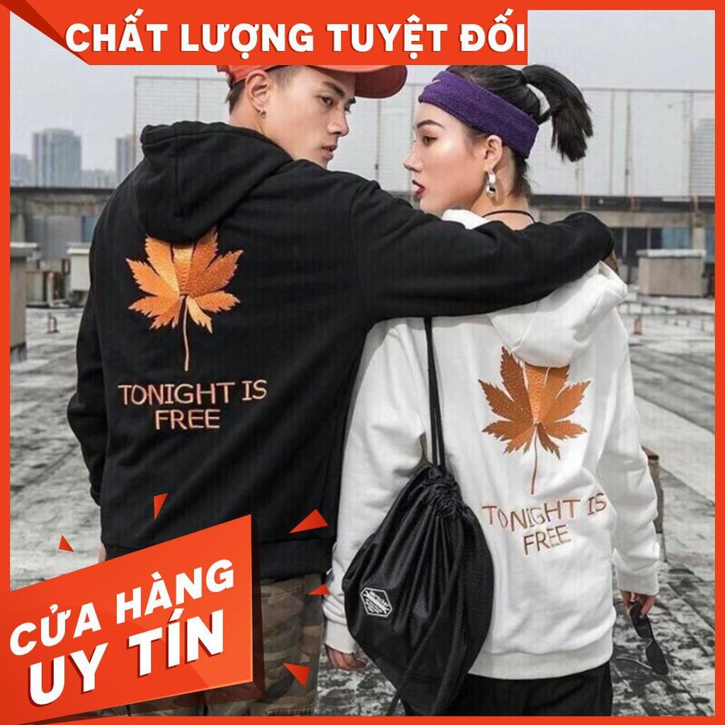 Áo khoác hoodie nỉ mẫu mới siêu chất hình chiếc lá