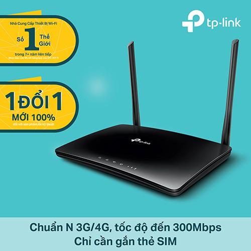 TP-Link TL-MR6400 Bộ phát Wifi 4G LTE chuẩn N tốc độ 300Mbps - Hãng Phân Phối chính thức