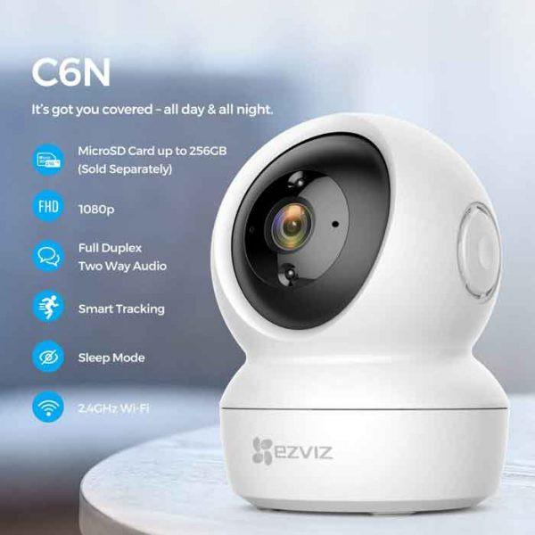 Camera Wifi thông minh EZVIZ CS-C6N-A0-1C2WFR (C6N 1080P) | Shopee ...
