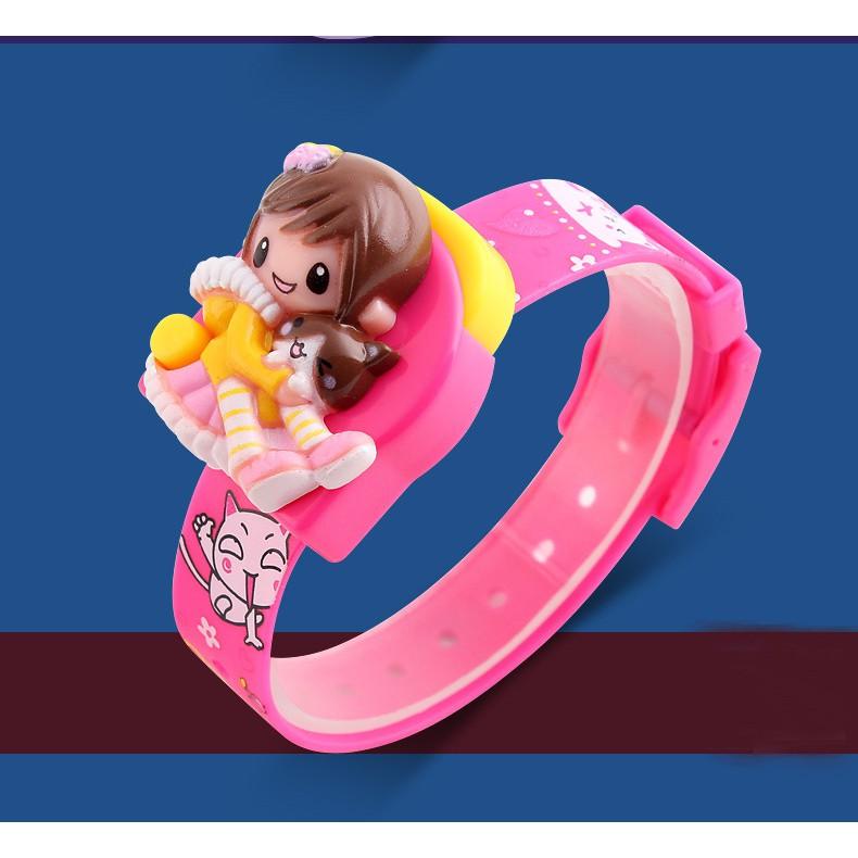 Đồng hồ trẻ em bé gái Skmei 1240 điện tử thời trang dây silicon
