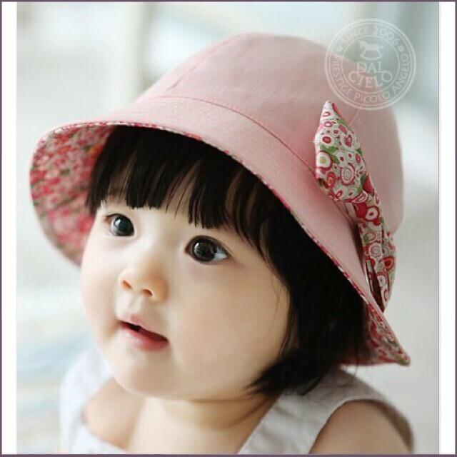 (KM Sốc)Sản phẩm nón 2 mặt no cho bé gái từ 9-24 tháng