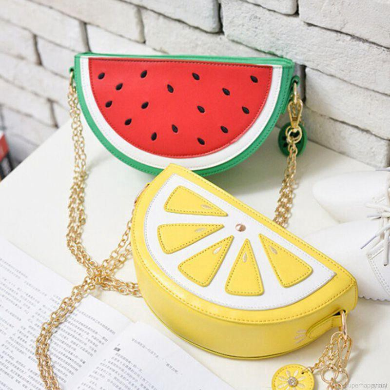 Fashion fruit bag semicircle ladies shoulder bag, fashion lady bag, available in many colors