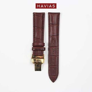 Dây đồng hồ HAVIAS Lux8 - Dây Nâu (Brown)