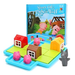 Smart Games Hide&Seek Board Games Three Little Piggies 48 Challenge with Solution Games IQ Training Toys For Children