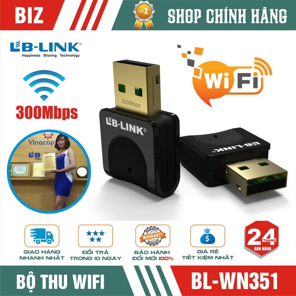 Bộ thu usb Wifi LB-Link BL-WN351 300Mbps – Chính hãng Giá chỉ 99.000₫