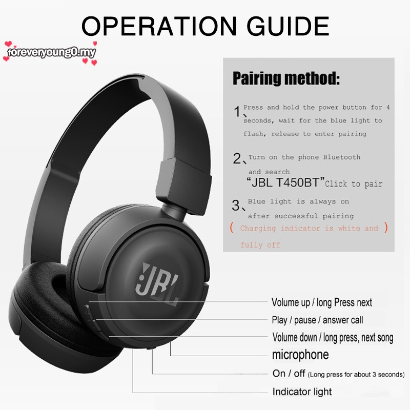 Tai nghe chụp tai bluetooth không dây chống tiếng ồn cho điện thoại