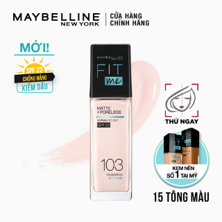 Kem Nền Mịn Nhẹ Kiềm Dầu Fit Me Maybelline New York Matte Poreless Foundation 30ml
