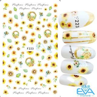 Miếng Dán Móng Tay 3D Nail Sticker Tráng Trí Hoạ Tiết Bông Hoa F223 thumbnail