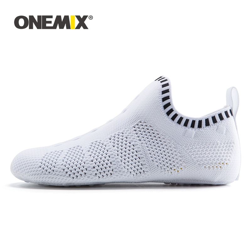 ONEMIX New Men Women Indoor Shoes Quick Dry Mesh Environmentally Women Casual Yoga Shoes Slippers Breathable Socks Light Shoes