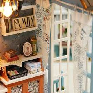 [QUÀ TẶNG ĐỘC ĐÁO] Mô Hình Nhà Gỗ Z-007 kèm Chó trang trí và Keo dán gỗ