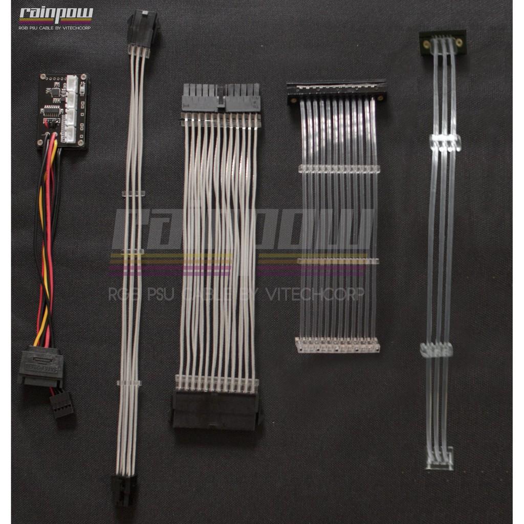 Bộ dây nguồn nối dài LED RGB 24PIN, 6PIN Cao Cấp Giá chỉ 180.000₫