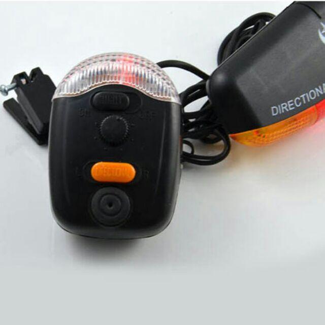 Bộ kèn và đèn tín hiệu gắn xe đạp