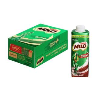 Thùng 24 hộp sữa lúa mạch Nestlé MILO 210 ml/hộp