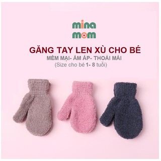 [XẢ HÀNG] GĂNG TAY LEN TRẺ EM cho bé nhiều màu dễ thương từ 1- 8 tuổi (được chọn màu)