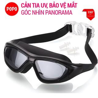 Kính bơi chính hãng POPO dành cho nam nữ SBig mắt kính tầm nhìn rộng 180 độ, chống tia UV SPORTY
