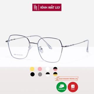 Gọng kính cận nữ Lilyeyewear kim loại, mắt vuông đa giác, nhiều màu - Y8899