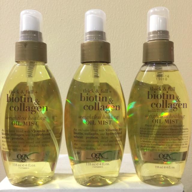 Xịt dưỡng tóc ORGANIX BIOTIN & COLLAGEN OIL MIST
