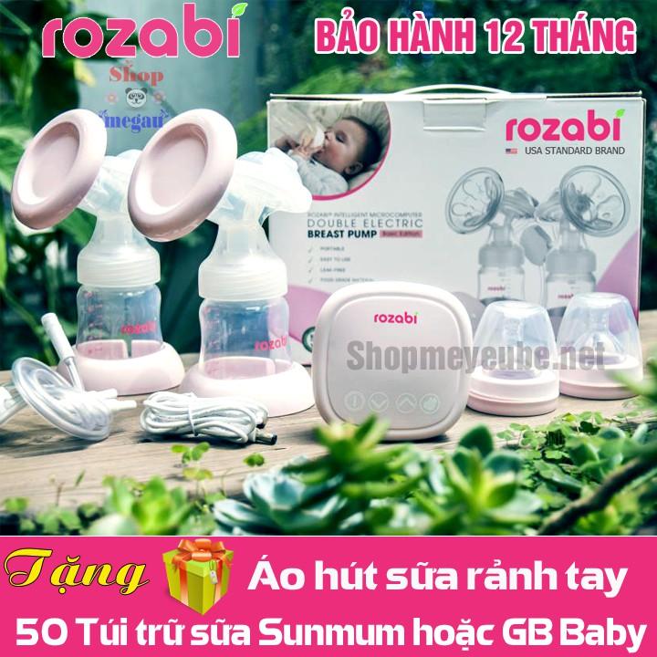 Máy hút sữa điện đôi ROZABI Compact 2018