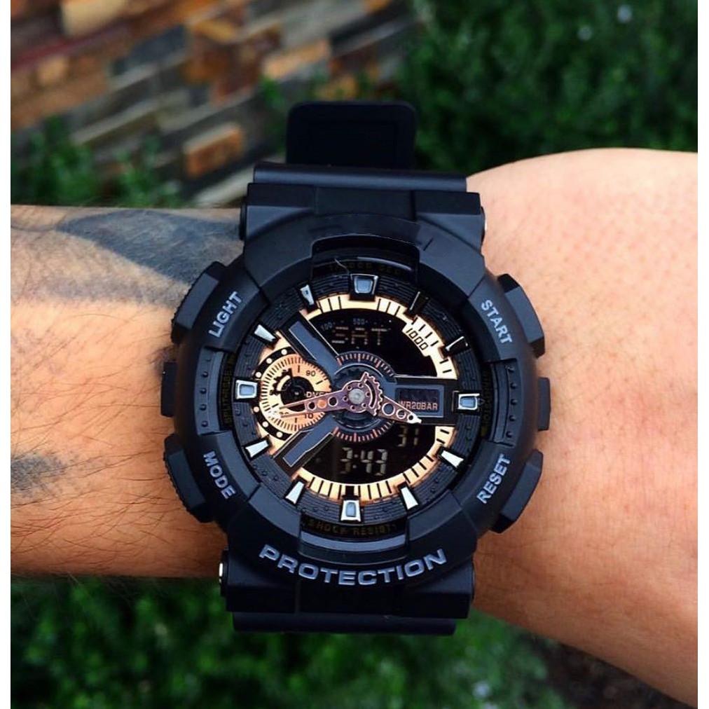 [Mã SKAMCLU7 giảm 10% Tối Đa 50K đơn 0Đ] Đồng hồ thể thao kim điện tử nam đen Sg GA110 - NHIỀU MÀU