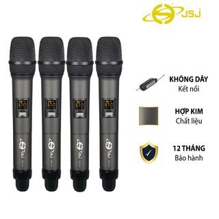 [4 mic] Micro karaoke không dây cao cấp JSJ PRO15 tích hợp màn hình led chuyên nghiệp,công nghệ giảm tiếng ồn thông minh