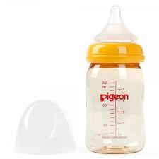 [Mã 267FMCGSALE giảm 8% đơn 500K] Bình Sữa Pigeon Cổ Rộng Cao Cấp 160ml/240ml cho bé HÀNG NHẬP KHẨU